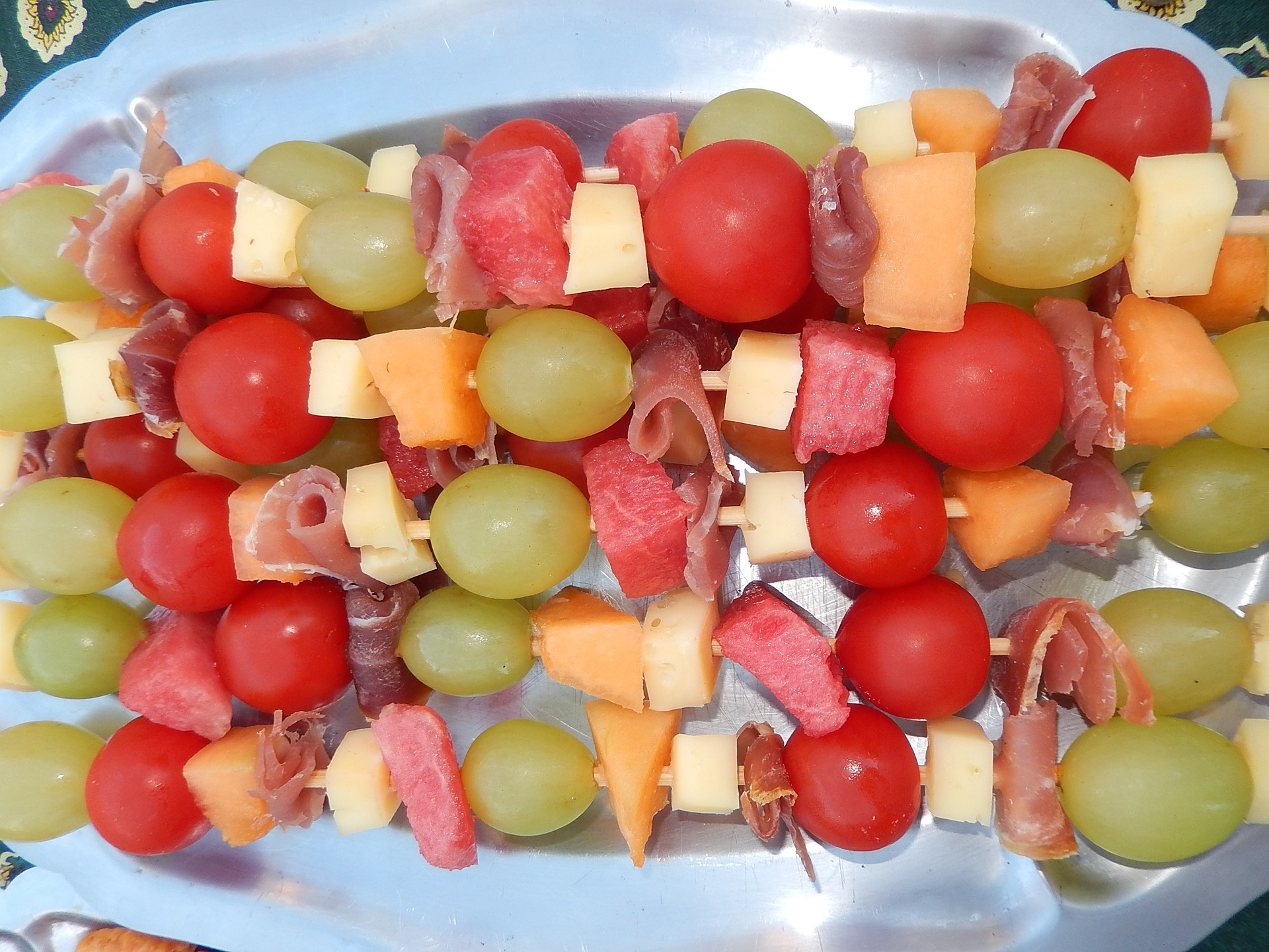 frutas acarameladas a la parrilla