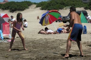 Paletas en la playa
