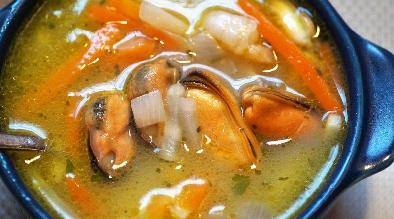 Sopa Romagnola a base de pescado